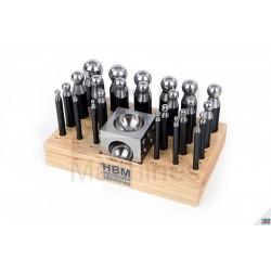Jeu de bouterolles acier poli Ø 1-24 mm M1 - 1613