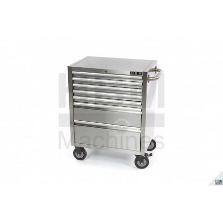 Servante d 39 atelier 7 tiroirs inox 6582 for Servante cuisine inox